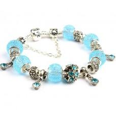 Нежный браслет Pandora Style Love серии, в голубом цвете