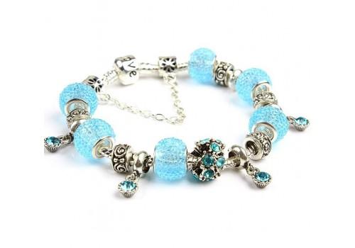Ніжний браслет Pandora Style Love серії, в блакитному кольорі