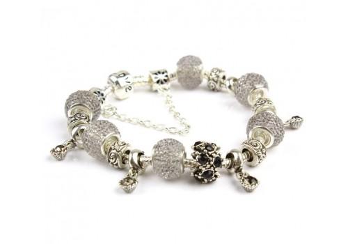 Браслет Pandora Style Love серии, в белом цвете