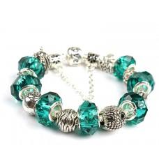 Розкішний браслет Pandora Style Love серії, в смарагдовому кольорі