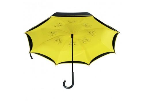 Зонт классическая трость обратного сложения
