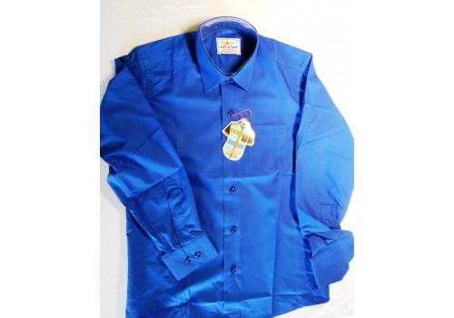 Дитяча однотонна сорочка синя