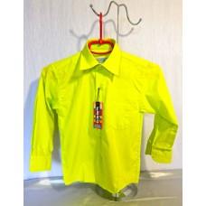 Дитяча однотонна сорочка зелена