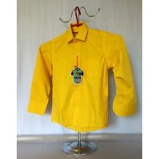 Детская однотонная рубашка желтая