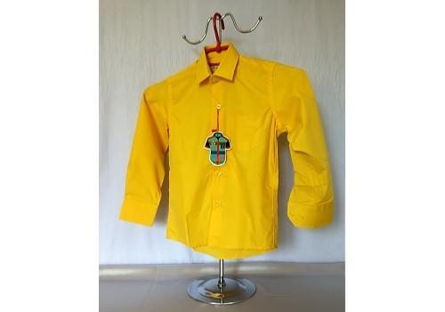Дитяча однотонна сорочка жовта