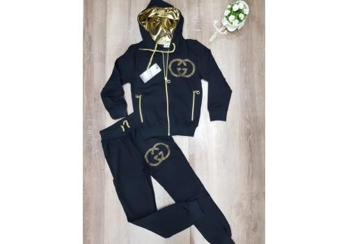 Спортивный брендовый костюм для девочки